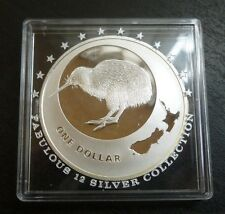 New Zealand 1oz .999 Fine Silver Proof One Dollar Kiwi 2009 Low Mintage