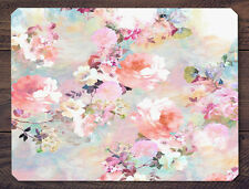 Romantic Victorian Rose Peonies Chic Floral Watercolor Mouse Pad Mat