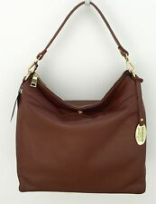 New Giordano Made in Italy Brown Italian Leather Hobo Handbag Shoulder Bag