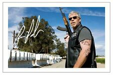 RON PERLMAN SONS OF ANARCHY SIGNED PHOTO PRINT AUTOGRAPH CLAY MORROW SOA