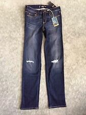 Womens-Juniors Hollister Skinny Destroyed Denim Jeans Size 7R/28 -*NEW W TAGS*