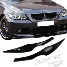 SHIP FROM LA!Unpainted 328i BMW 3-series E90 E91 eyelids eyebrow Headlight Cover