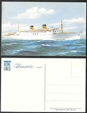 Old Ship Postcard - Home Lines Homeric