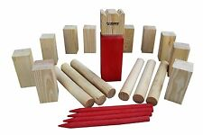 Viking Chess Wooden Kubb Construction Outdoor Activity Family Strategic Fun Game