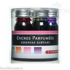 J HERBIN SCENTED INK SET - 5 colours/fragrances in 10ml bottles