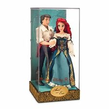 Disney Store LE Ariel and Prince Eric Fairytale Designer Collection Doll Set NEW
