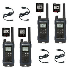 Motorola Talkabout T460 4 Pack Walkie Talkie 35 Mile Two Way Radio Weather Light