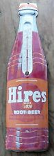 Vintage Hires Root Beer Soda Bottle Thermometer-Store-Fountain-Gas Station