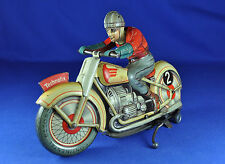 GIOCATTOLI DI LATTA/TIN TOY: TECHNOFIX 255 MOTO/MOTORCYCLE G.E. 555, 1950....