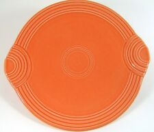 Fiestaware Persimmon Handled Cake Plate Round Platter Fiesta Retired Color