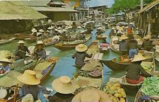 CARTE POSTALE ASIE THAILANDE LE MARCHE SUR L'EAU BANGKOK