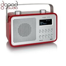 TANGENT DAB2GO BLUETOOTH DAB+ RADIO AND BLUETOOTH SPEAKER MUSIC SYSTEM - RED