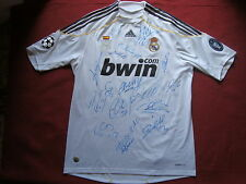 REAL MADRID 17 HAND SIGNED 2009-10 CHAMPIONS LEAGUE SHIRT-NEW- PROOF-COA RONALDO