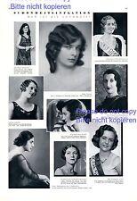 Miss Germany & Austria 1931 1 XL Seite Fotoabb. France Italy Greece Turkey