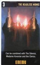 Doctor Who the Card Game 2009 c7e - 3 Art Cards; Headless Monks, Madame Kovarian