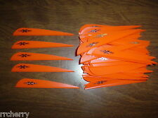 "100 4"" Flo Orange VaneTec V-Max Vanes! archery plastic arrow fletching vane tec"