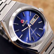 VINTAGE MENS RADO COMPANION AUTOMATIC DAY & DATE ANALOG DRESS WATCH ST. STEEL