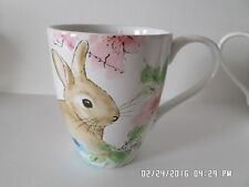 222 FIFTH~BASTIA BUNNY EASTER~SET OF 4 CUPS MUGS NEW