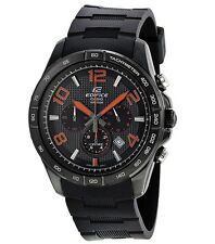 Casio Edifice Watch * EFR516PB-1A4 Orange & Black Steel Case & Resin COD PayPal