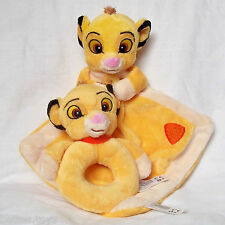 THE LION KING SIMBA Coperta Comfort Baby e Rattle Giocattolo morbido Set