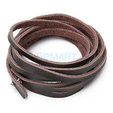 MEN/WOMENS MULTILAYER LONG LEATHER BELT WRAP BRACELET CUFF WRISTBAND PUNK BROWN