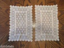 LOT OF 2 VINTAGE DOILIES - DELICATE PINK LACE DOILIIES