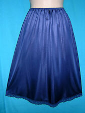 *WONDERFUL NAVY BLUE ANTRON III NYLON HALF JC PENNY HALF SLIP**M-L** NWOT**