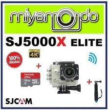 SJCAM Original SJ5000X Elite WiFi Action Camera (Silver) + Monopod +microSD 16GB