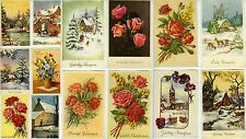14 Dutch Postcards Postmarked Nederland 1950's Nederland Stamps