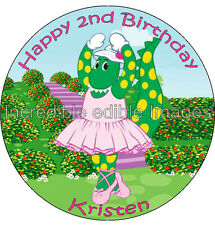 Dorothy The Dinosaur Wiggles Personalised Edible ICING Cake Topper party deco