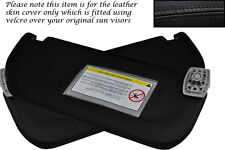 BLACK STITCH FITS TOYOTA AYGO CITROEN C1 05-12 2X SUN VISORS LEATHER COVERS ONLY