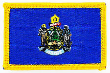 AUFNÄHER Patch FLAGGEN flagge MAINE USA STAATEN flag Fahne 7x4.5cm
