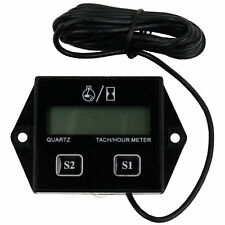 Digital Tach Tachometer Hour Meter For Motorcycle Bike ATV Generator Spark Plug