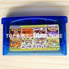 24 in 1 Pokemon Nintendo Game Boy Advanced Card Child Gift GBA,GBSP,NDS US Rev.