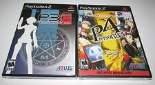 Persona 3 FES and Persona 4 Bundle for Playstation 2 Factory Sealed!