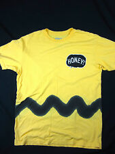 Honey Brand Charlie Brown men's short sleeve tee shirt yellow size LARGE
