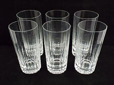 Dansk Designs France IHQ Quistgaard Crystal 6 Highball Glasses, Facette