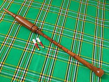LONG ROSE  WOOD PRACTICE CHANTER WITH SOFT LEATHER CARRYING CASE