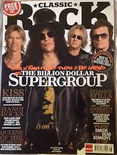 Classic Rock Magazine supergroup Guns n' Roses Kiss Hanoi Rocks Deep Purple Def