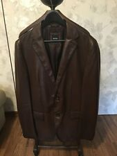 Hugo Boss leather blazer, leder sakko - 100% original