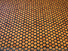 3 Yards Quilt Cotton Fabric - Maywood Halloween Classics Orange Dots Black