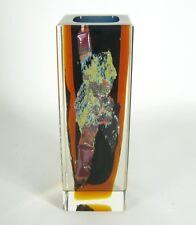 Exbor Glas Vase Pavel Hlava Design Czech Art Glass RARE ca. 17,5cm Cool