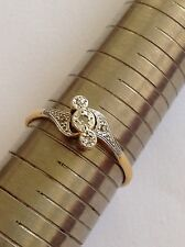 Pretty Edwardian 18ct Gold & Platinum Diamond Set Ring