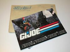 "VINTAGE GI JOE 1989 GI JOE MAIL OFFER ""STICKER POSTER"" - HASBRO BENELUX"
