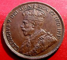 1918  Canada Cent, King George V,  Nice Surfaces nice bust details 6 pearls