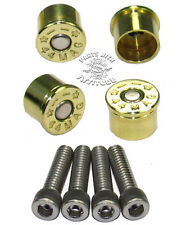 BRASS 44 MAG BULLET CAPS for HARLEY HANDLE BAR SWITCH HOUSING