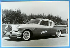 "12 By 18"" Black & White Picture 1957 Studebaker Silver Hawk"