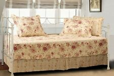 Daybed Quilt Set Cotton 5 Piece Vintage Victorian Style Reversible Bedding