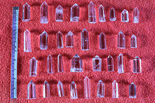 160g 6pcs Clear Natural Beautiful QUARTZ Crystal Points Reiki healing