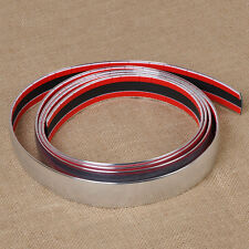 New Exterior Car 2.5m 30mm Chrome Adhesive Strip Trim Molding Styling Decoration